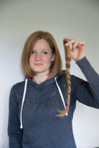 Haarspende, Zopf, rote Haare